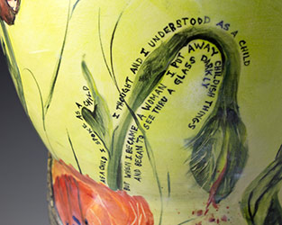 CLose up of Poppy Vase by Julie Brand